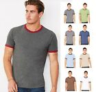 Bella+Canvas Mens Heather Ringer Jersey Tee Tshirt T-Shirt-C3055-3055-8 COLORS! image
