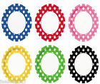 """8 Polka Dots Spots 9"""" Round Paper Plates Party Supplies Tableware 6 Colours"""