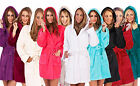 Womens Dressing Gown Boutique New Housecoat Soft Fleece Short Hooded Bath Robe
