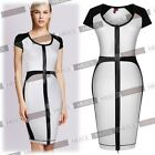 2015 Lady New Sexy Contrast Color Front Back Jag Zipper Back  Business Dress0-18