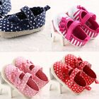 Noble color dot Newborn Infant Toddler Soft Girls Baby Shoes size 0-18 Month LMU