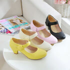 Womens Shoes Block Mid Heel Ankle Strappy Casusal Round Toe Chic Pumps Plus Size