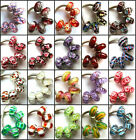 100pcs Wholesale Lampwork Murano Glass Beads Fit European Charm Bracelet 2
