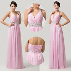 New Formal Long Evening Gown Party Prom Ball Bridesmaid Dress Size 6 8 10 12 14+