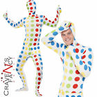Adult Twister Costume Game Retro Second Skin Mens Fancy Dress 80s Outfit New