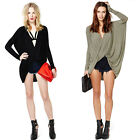 Fashion Women Lady Deep V-Neck Long Sleeve Batwing Sleeve T-Shirt Baggy Tops New