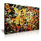 ART ABSTRACT SPLASH 1 Canvas Framed Printed Wall Art - More Size