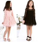 Girls Kids Toddlers Princess Dress Party Flowers Lace Tulle Skirt 2-7Y Clothing