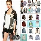 New Vintage Retro Boho Loose Chiffon T Shirt Top Kimono Coat Cape Blazer Jacket