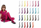 Girls Tights Plain Opaque 40 Denier Microfibre Age 2-12 Years-30 Various Colours
