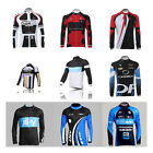 Mens Cycling Outdoor Sports Breathable Bike Top Long Sleeve Jersey Coat Jacket