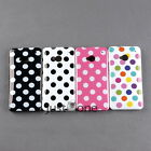 Hot Sale Chic TPU Cute Polka Dots Pattern Skin Back Case Cover for HTC One M7