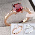 A1-R3131 Fashion Solitaire Ring 18KGP use Swarovski Crystal Pave Prong-set