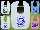 ROCHDALE AFC Football Baby Bib-White/Blue/Pink-Personalised Gift-Boy/Girl-Cotton