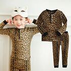 "NWT Vaenait Baby Toddler Kid Girl Boy In Door Sleepwear Pyjama Set ""Leopard"""