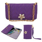 Purple PU Leather Wallet Flip Case Cover For Samsung Galaxy S3 S4 i9300 i9500