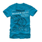 Star Wars Corellian Engineering Falcon Turquoise Adult T-shirt