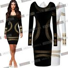 Ladies Celebrity Foil Print Short Mini Cocktail Clubwear Evening Party Dresses