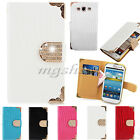 Luxury Diamond Magnetic Bling Shiny Crystal Leather Flip Wallet Case Cover