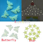 4/100pcs Star Butterfly Stickers In Dark Home Wall Decal In Nursery Room Persent