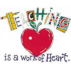 Teaching Is A Work Of Heart Teacher Shirt *DISCONTINUED*