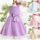 Purple Christening Communion Christmas Wedding Flower Girls Dresses SZ AGE 2-12Y