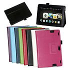 "Litchi Stripes Bracket PU Stand Flip Case Cover For 8.9"" Amazon Kindle Fire HDX"
