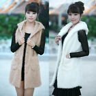 Korean Fashion Lady Fall Winter Sleeveless Hooded Vest Coat Waistcoat Outerwear