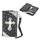 Bling Cross Design PU Flip Wallet Card Holder Case Cover For iPhone HTC NOKIA
