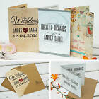 Personalised Wedding Invitations with Envelopes ★Day & Evening Invites ★ Folding