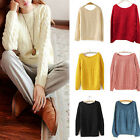 New Women Fashion Sweaters Casual Loose Knitted Pullover Cardigans Multi colors