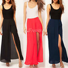 Sexy Womens Boho Open Side Split Skirt Summer Chiffon Long Party Prom Maxi Skirt