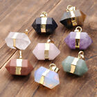 Hexagon Crystal Quartz Healing Point Reiki Chakra Gemstone Pendants For Necklace