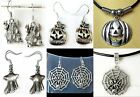 Haunted House Castle Ghost Pumpkin Face Spider Web Necklace Earrings ~ HALLOWEEN