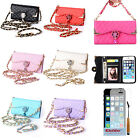 New Luxury Diamond Rose PU Flip Wallet Card Holder Case Cover For iPhone 5 5G 5S