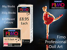 FIMO Professional Doll Art Oven Baked Polymer Clay Craft Art 85g & 350g Blocks