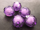 16/20mm DARK VIOLET CLEAR FACETED ROUND ACRYLIC BEAD IN BEAD CC4559