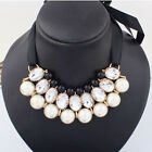 New  Fashion Pearl Jewelry Pendant Chain Choker Bib Statement Necklace Party