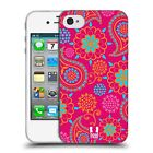 HEAD CASE PSYCHEDELIC PAISLEY TPU GEL BACK CASE COVER FOR APPLE iPHONE 4