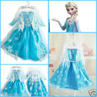Elsa Anna Halloween Cosplay School Birthday Party Costume Dresses SZ 3 4 5 6 7 8