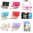 Pretty Diamond PU Leather Flip Wallet Case Cover For Samsung Galaxy S4 IV i9500