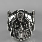 Silver ring stainless steel Transformer Autobots Optimus Prime solid band heavy