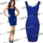 Womens Ladies New Navy Style Offices Casual Mini Bodycon Tea Dresses Size810246