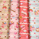 Afternoon Cakes Boder / Cute Cakes PRINT Japanese Fabric - 110cm x 50cm