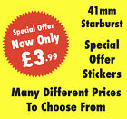 Bright Red 41mm Starburst Special Offer Promotional Price Stickers - Labels