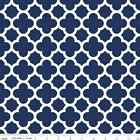 QUATREFOIL  - NAVY  - RILEY BLAKE 100% COTTON FABRIC
