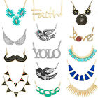 1PC Fashion Charm Jewelry Choker Chunky Statement Bib Pendant Chain Necklace