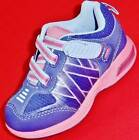 NEW Girls Toddler CARTER'S RIVAL Purple/Blue/Pink LIGHTS Athletic Sneakers Shoes