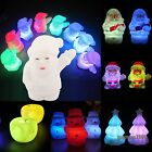 7 Colors Changing Flash Snowman Santa Claus LED Night Light Lamp Christmas Gift