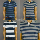 NWT Hollister Mens Hco First Jetty  Muscle Fit  Soft Rugby Polo Tee T- Shirt